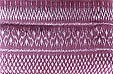 White and violet mudmee pattern Thai silk cloth! - 100% pure, smooth, soft & hand woven!
